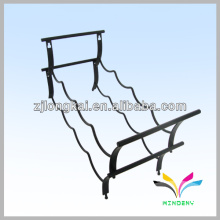 Smartable blackpowder coated wire bottle hanging display racks