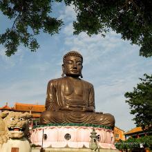 открытый украшения фэн-шуй бронзовая статуя Будды для путешествия в Тайвань