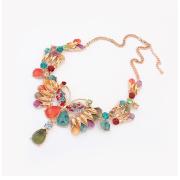 Nueva marca de moda de lujo acrílico y cristal metal mariposa gargantilla collar grueso declaración diseñador Vintage joyería para las mujeres