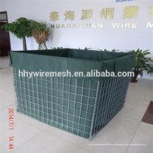 barreira de hesco parede Perímetro de segurança e defesa paredes galfan fio hesco barreira