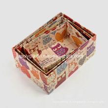 Impressão Kraft Paper Storage Embalagem Gift Boxes