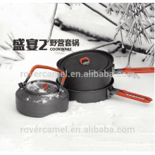 Fuego arce fiesta-2 2-3 persona durable utensilios Ultralight camping cookware que acampa