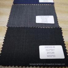 atacado tecido de terno de tecido de lã de poliéster estoque