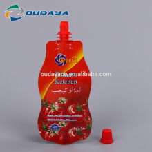 Tomato Ketchup Sauces Stand Up Shaped Pouch with spout, Metalized Pouch with Spout for Sauce, Packaging Bag with Spout