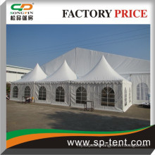 Combined pagoda and party tent with linings for all weather event