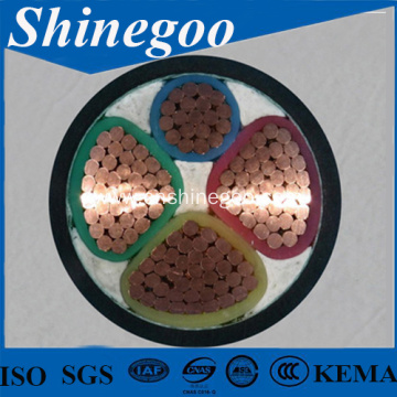 sector shaped conductor four core PVC Power Cable