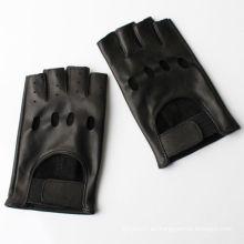 2016 dedo corto caliente de la venta que completa un ciclo los guantes de cuero