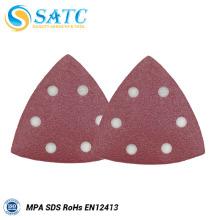 Disco de lixamento triangular com certificado MPA para polimento de metais