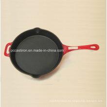 LFGB Ce calificado hierro fundido Frypan Precio China fábrica Dia 26 cm