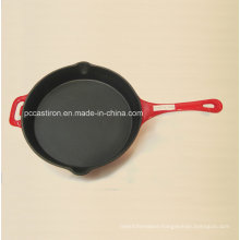 LFGB Ce Qualified Cast Iron Frypan Price China Factory Dia 26cm