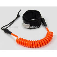 surfboard coil leash with high durability custom surfboard leash/coil leash