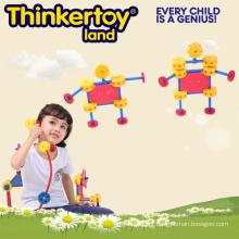 Pré-escolar, educacional, plástico, berçário, construir, bloco, brinquedo
