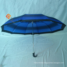 Two Fold J Handle Polyester Fold Umbrella (YS-2F1003A)