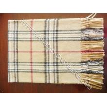 Cashmere Woolen Plaid Scarf (HM-SC09007)