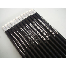 Non Toxic Round Wooden Long Pencils with Eraser Tc-P003