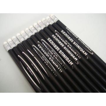 Crayons longs non toxiques en bois ronds avec l'effaceur Tc-P003