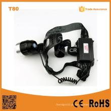 T80 multifunções de alta potência LED farol 10W Xml T6 recarregável LED acampamento farol