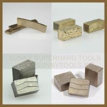 Elemento Seis segmentos de corte de piedra de diamante
