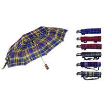 Vérifier le parapluie automatique de pli de tissu 3 (YS-3FA22083009R)