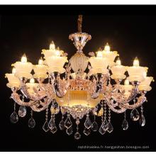 cristal mosquée lustre cristal alliage de zinc fantaisie lustre debout lampes bougie intérieure