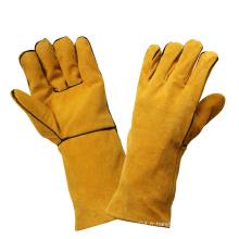 Cuir de sécurité résistant aux cendres Soudage de travail Gants de protection pour les mains