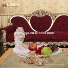 Home decor pieces wholesale Luxury style resin compote customized resin fruit plate