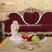 Peças de decoração de casa por atacado Venda de resina de estilo luxuoso personalizado prato de frutas de resina
