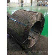 Cabo de aço de concreto protendido de 12,7 mm