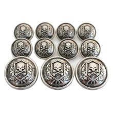 Gold Vintage Metal Blazer Button Set For Blazer