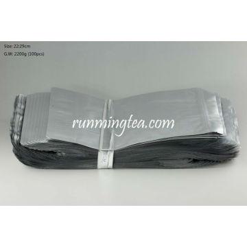 Big Pure Aluminium Standing-up Pouch with Zip lock, 500g Tea Capacity, 22*29cm, 100pcs/set