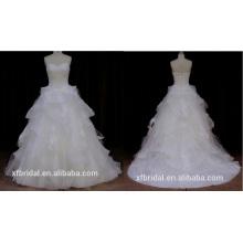 Trägerlos Organza Wonmen Hochzeitskleid 2016 neue Stil
