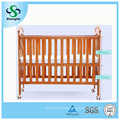 Multifunctional Solid Wooden Safety Baby Crib