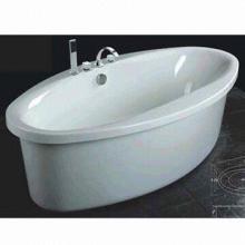 Acrylic Bathtub, Includes Bath Faucet, Shower Head and Drainers
