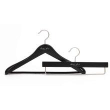 Crochet en bois de luxe noir pour le manteau