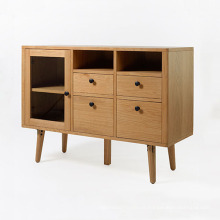Four Drawers Wood Living Room Cabinet