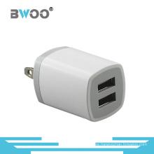 Portable Us Plug Dual USB Cargador de viaje