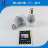 Music controlled RGBW 8w bluetooth smart led bulb