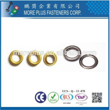 Taiwan Stainless steel 18-8 Chrome plated steel Nickel plated steel Copper Brass DIN7339 Grommet and Eyelet