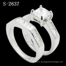 Modeschmuck rhodiniert Silber Ring (S-2637. JPG)