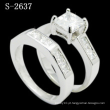 Moda jóias ródio anel de prata banhado (S-2637. JPG)