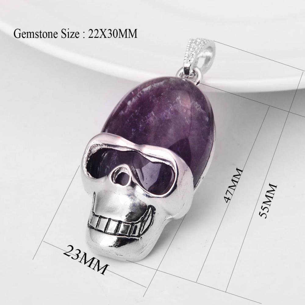 06SP0170-SIZE amethyst pendant