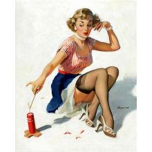 Cartaz da menina do vintage