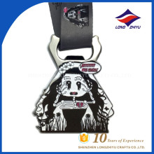 LZY Wholesale Custom Skeleton girl black metal opener unique award medal