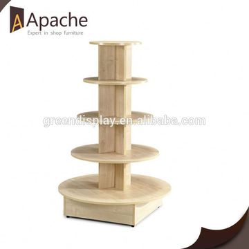wood display stand for retailer store