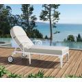 Chaise de plage extérieure en aluminium