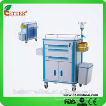 affordable medical Aluminum&ABS silent emergency ambulance trolley