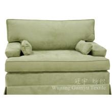 Telas 100% home do sofá de matéria têxtil do poliéster do couro da camurça