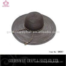 Флоппи-синяя летняя ткань шляпы дамы