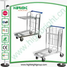 Warehouse Tablet Foldable Platform Trolley Cart