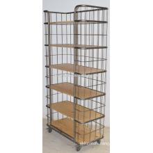 Industrial Iron Frame Shelf